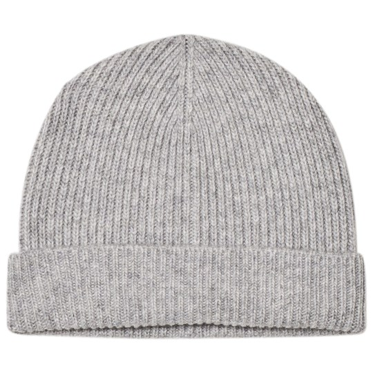 United Colors of Benetton Rib Knit Wool Hat Light Grey Light Grey