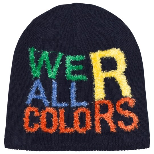 United Colors of Benetton Printed Jersey Reversible Hat Navy Navy