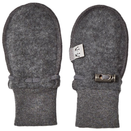 Hust&Claire Wool Mittens Anthracite Antracite Melange