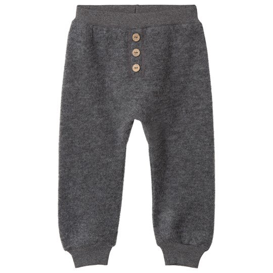 Hust&Claire Wool Pants Anthracite Antracite Melange