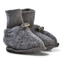Hust&Claire Wool Slippers Antracite Melange Antracite Melange