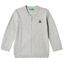 United Colors of Benetton L/S Knit Zip Jacket Light Grey Light Grey