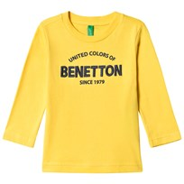 United Colors of Benetton L/S Logo T-Shirt Yellow Yellow