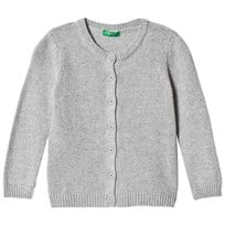 United Colors of Benetton Cashmere Wool Mix L/S Cardigan Light Grey Light Grey
