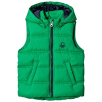 United Colors of Benetton Padded Gilet With Hood Green Green