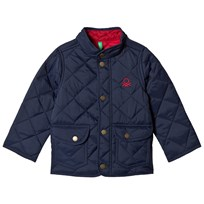 United Colors of Benetton Quilted Barn Jacket with Logo Navy Navy
