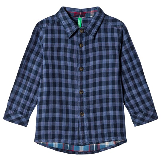 United Colors of Benetton Check Flannel Shirt Blue Blue