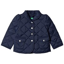 United Colors of Benetton Quilted Barn Jacket Peplum Waist Navy Navy