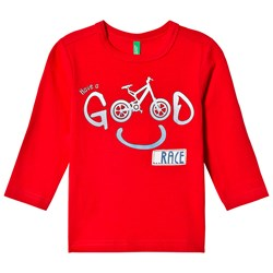 United Colors of Benetton Bike Print T-Shirt Red