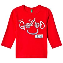 United Colors of Benetton L/S Bike Print T-Shirt Red Red