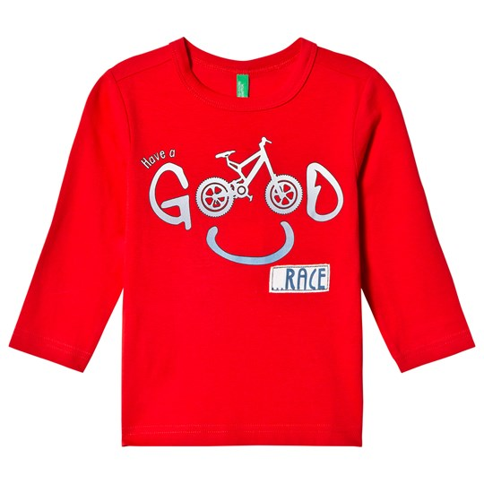 United Colors of Benetton Bike Print T-Shirt Red Red