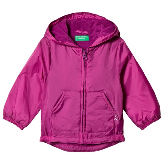 United Colors of Benetton Rain Defender Windbreaker Jacket Pink Pink