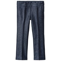 United Colors of Benetton Smart Textured Trouser With Lurex Stitch Navy Navy