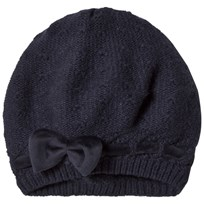 United Colors of Benetton Knit Beret With Bow Navy Navy