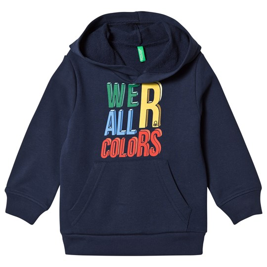 United Colors of Benetton Print Pullover Jersey Hoodie Navy Navy
