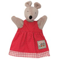 Moulin Roty Nini the Mouse Handpuppet Red