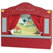 Moulin Roty Red Small Red Puppet Theatre Red