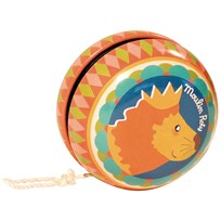 Moulin Roty Multicoloured Yoyo with Lion Orange