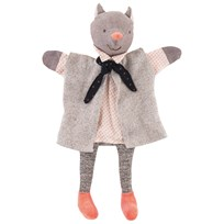 Moulin Roty The Gallant Cat Hand Puppet Black