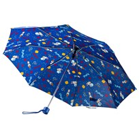 United Colors of Benetton Logo Print Umbrella Blue Blue