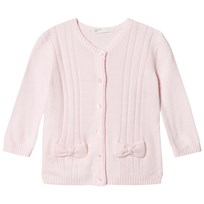 United Colors of Benetton L/S Knit Cardigan With Bow Details Light Pink Light Pink