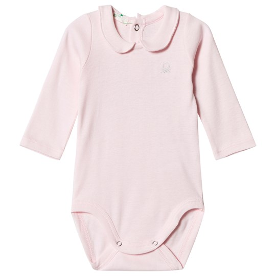 United Colors of Benetton Logo Polo Baby Body Pink Pink