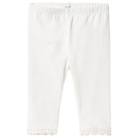 United Colors of Benetton Lace Trim Leggings White White