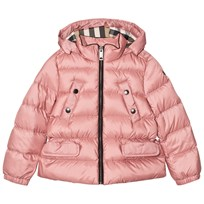 Burberry Pink Bronwyn Hooded Quilted Down Jacket Pale Rose
