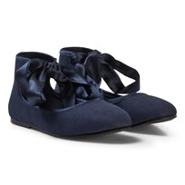 United Colors of Benetton Flattie Show With Tie Ankle Navy Laivastonsininen