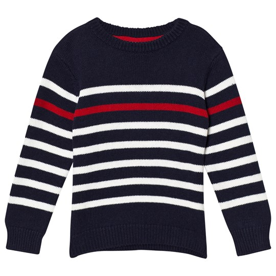 Cyrillus Knitted Sweater Blue/White Stripe 6398