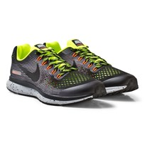 NIKE Black Nike Air Zoom Pegasus 34 Shield Junior Trainers BLACK/BLACK-VOLT-WOLF GREY