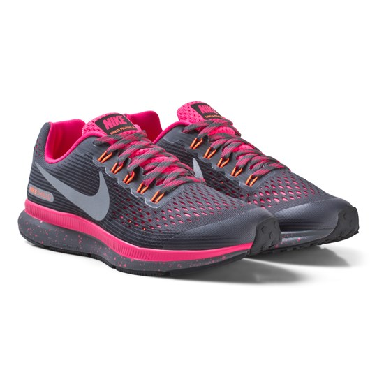 NIKE Black and Pink Nike Zoom Pegasus 34 Shield Junior