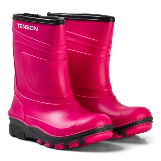 Tenson Alfon Lined Rubber Boots Pink Pink