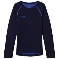 Bergans Akeleie Shirt Navy/Warm Cobalt Blue