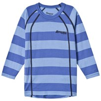 Bergans Fjellrapp Striped Shirt Skyblue Blue