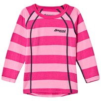 Bergans Fjellrapp Striped Shirt Lollipop Pink