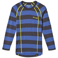 Bergans Fjellrapp Striped Shirt Warm Cobalt/Dark Grey Blue