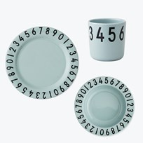 Design Letters Melamine The numbers gift set Green