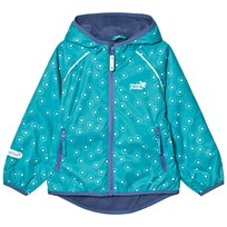 Muddy Puddles EcoSplash Hooded Jacket Pale Green/Frogspawn Baltic Frogspawn