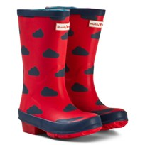 Muddy Puddles Red and Navy Cloud Puddlestomper Wellies Red/Navy Cloud