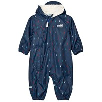 Muddy Puddles Multi Raindrop 3-in-1 Scamp Snowsuit Navy/Multi Raindrop