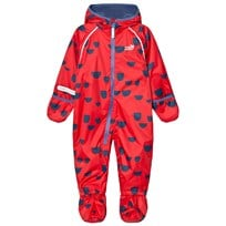 Muddy Puddles Red and Navy Hoof Hooded All In One Red /Navy Hoof
