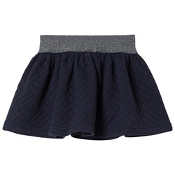 Cyrillus Navy Quilted Skirt