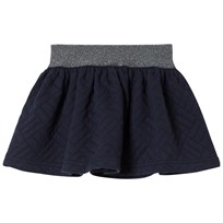 Cyrillus Navy Quilted Skirt 6399