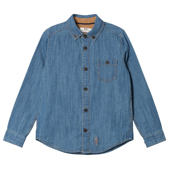 Cyrillus Denim Blue Long Sleeve Shirt 6404