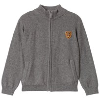 Cyrillus Grey High Neck Full Zip Jumper 6443