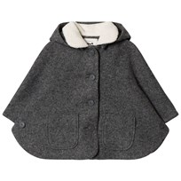 Cyrillus Dark Grey Hooded Cape 6433