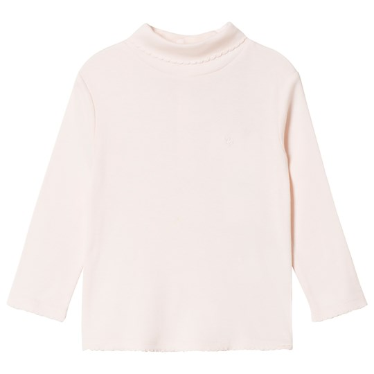 Cyrillus Pale Pink Long Sleeve Decorated Neck Shirt 6629