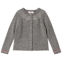 Cyrillus Dark Grey Long Sleeve Designed Cardigan 6449