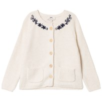 Cyrillus Ecru Embroidered Cardigan 6969